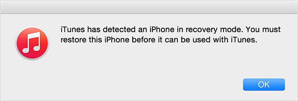 iTunes detect iPhone recovery mode