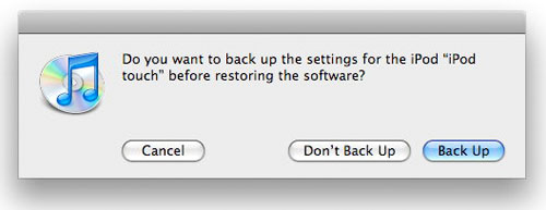 backup option