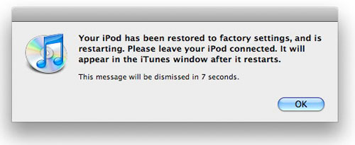 restart iPod touch automatically