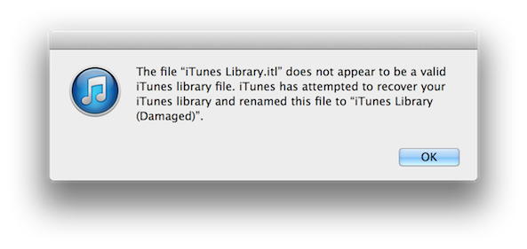 Repair Damaged iTunes Library Mac