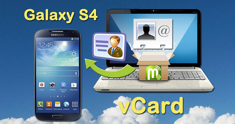 vCard to Samsung Galaxy S4