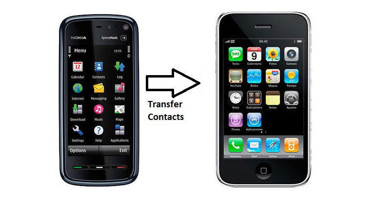 Transfer contacts from Nokia to iPhone