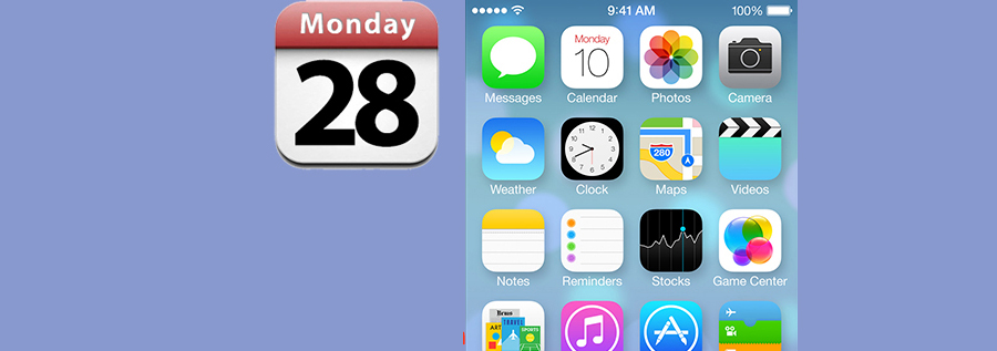 restore iPhone calendar icon