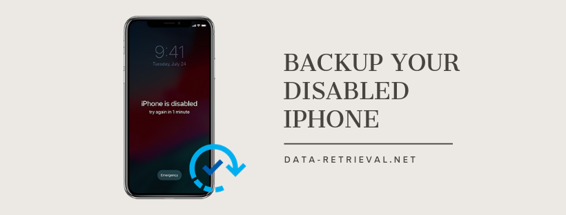 backup disabled iPhone X
