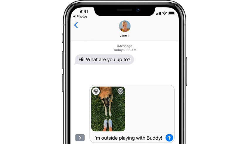 iPhone X iMessages
