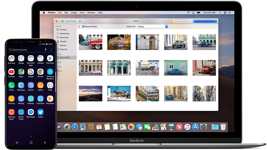 transfer Android files to Mac